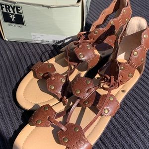 Frye gladiator sandals. Size 9.5 new in box